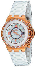 Oniss ON669-LRG Women's Fantasy Collection Rose MOP Dial White Ceramic Watch