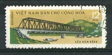 Vietnam 1964 LOCOMOTIVA a VAPORE su Ponte COMMEMORATIVO TIMBRO SG N315 VFU