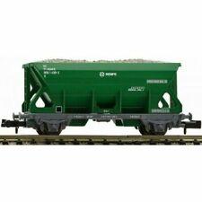 Vagones de mercancías de escala N verdes para modelismo ferroviario