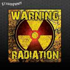 WARNING Radiation Sticker -Car Truck Bumper Vinyl Decal Zombie Rad symbol #FS952