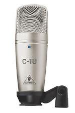 BEHRINGER C1U - USB Studio Condenser Mic C-1U with Software Suite **BRAND NEW **