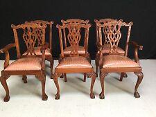 6 sedie stile chippendale di squisita PRO FRANCESE LUCIDO & Imbottiti