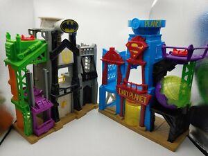 Imaginext Daily Planet Superman & Wayne Manor Batman playsets. Mattel 2015