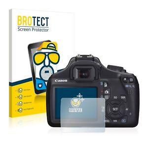 Canon EOS 1100D , 2 x BROTECT® Matte Screen Protector, anti-glare, hard-coated