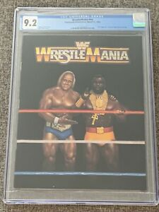 1985 WWF Wrestlemania I Official Program CGC 9.2 White Pages Hulk Hogan Mr T WWE