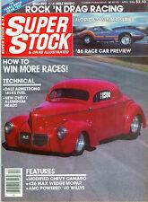 SUPER STOCK & DRAG ILLUSTRATED, APRIL 1986, ROCK N' ROCK EXPRESS, LES STOCKLEY