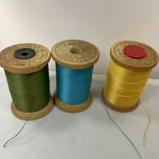 11 Wood Spool Threads 10 Spools Star Cotton Thread  1 Belding Corticelli Poly Bond Thread 11 Different Colors Excellent Vintage