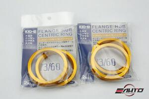 4pc Aluminum Kics KYO-EI Hub Centric Ring 73-60, OD = 73mm to ID = 60mm