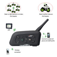 3.0Bluetooth Motorcycle Helmet Interphone Intercom Headset For 6 Riders V6-1200M
