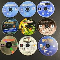 Lot of 8 PS1 Playstation 1 Games Disc Disk Only Metal Gear Solid Emperors Groove
