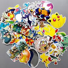 60 Skateboard Vinyl Sticker Skate Graffiti Laptop Luggage Car Pokemon Decal Lot