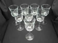8 Vintage Luminarc Bengale 10 ½ ounce Water Goblets/Stems