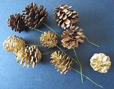 9 Stück Baumschmuck Kranzschmuck Zapfen mit Draht Baumbehang Christbaum