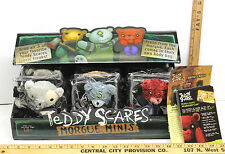 """11 Teddy Scares Morgue Minis Series 2 Plush 7"""" Bear Monsters+Display Box Nib"""