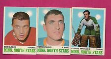 1970-71 OPC NORTH STARS MANISGO + BEAUDIN RC + MCCORD CARD (INV# A1899)