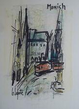 Georges LAPORTE (1926-2000) Technique mixte/papier Munich P1790