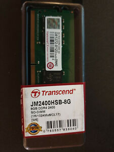Transcend 8 Go DDR4-2400MHz Mémoire RAM -SO-DIMM