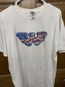 Vintage Waylon Jennings Shirt America Flag Eagle Design XL Live in America