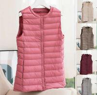 Women Packable Lightweight Waistcoat Down Puffer Sleeveless Jacket Vest Liner