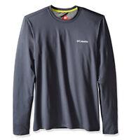 NEW COLUMBIA MEN'S Trail Summit Long Sleeve Shirt Dark Gray, Large