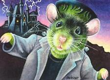 ACEO Limited Edition Print Halloween Costume Mouse Monster Frankenstein J.Weiner