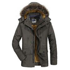 Herren Baumwolle Mantel Winterbekleidung Samt Verdickung Mittellanger Mantel