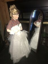 "The Danbury Mint Prom Dress Porcelain Doll Vintage 16"" New In Box"