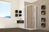 Box doccia PVC Serie Flex cabina angolare soffietto acrilico riducibile FORTE