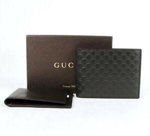 Gucci Men's Dark Brown Guccissima Leather Bi-fold Wallet 333042 2044