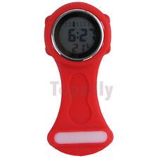 2019 Digital Multi Function Red Nurses/Brooch/Tunic/Fob/Pocket/ Silicone Watch