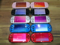 Sony PSP 3000 Lot of 10 Console Black Silver Red Blue White Pink Japan o465
