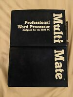 """1984 MultiMate Pro Word Processing for IBM PC 3.22 Manual 4 Disks 5.25"""" Floppy"""