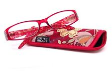 foster grant Ashley Red reading glasses  +1.50 With Free Matching Case