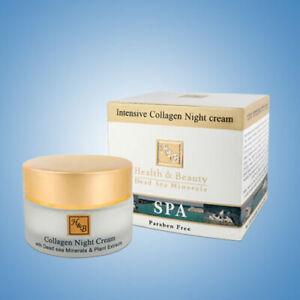 Intensive Collagen Night Cream For Face H&B Dead Sea Minerals Night Treatments