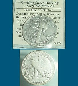 1947-D WALKING LIBERTY SILVER DOLLAR
