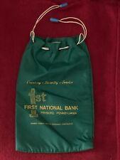 Vintage - First National Bank, Fryburg, PA Canvas Deposit Money Bag