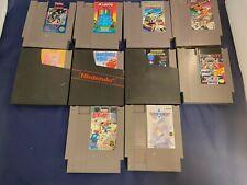 Nintendo NES Lot of 10 Games Trojan Renegade Top Gun Arkanoid Laser Invasion!