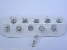 (0,45€/Einheit) 10 x NARVA® 12V 5W W5W Sockel W2,1x9,5d Glassockel Standlicht