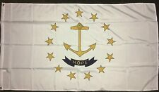American Rhode Island State 5ft x 3ft Flag USA 5x3 Providence RI Anchor Hope Sea