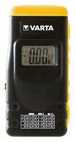 VARTA Batterietester 891 mit LCD-Digital-Display Akku-/Knopfzellentester 00891