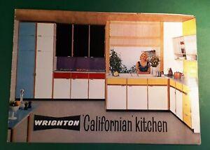1960s/1963 Wrighton CALIFORNIAN KITCHEN Brochure. Plans by Nigel  V. Walters E17