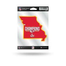 Kansas City Chiefs NFL Super Bowl LIV Champions Home State Shaped Decal