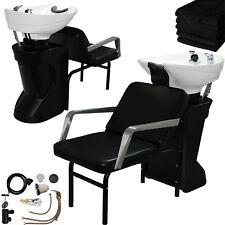 Ceramic Backwash Shampoo Bowl Sink Chair Unit Station Beauty Spa Salon Equipment