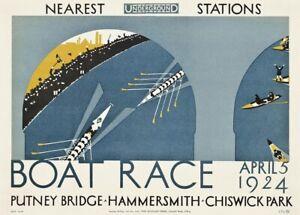 Vintage 1933 Oxford Cambridge University Boat Race Poster A4//A3//A2//A1 Print