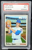 Vintage 1970 Topps HOF Star Mets NOLAN RYAN Baseball Card PSA 7 NMINT - Low Pop!