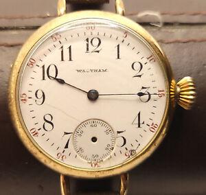 Waltham Pocket/Wristwatch 1891 Model 7Jewel GF Runs but Needs Work
