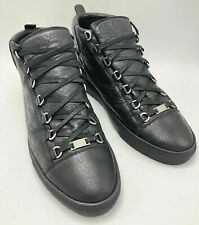 Authentic New Balenciaga Arena High-Top Leather Lace Up Sneakers EU 45 US 12.5
