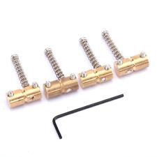 Musiclily Pro 57mm Brass Bridge Saddle For 4 String Precision Jazz Bass Guitar