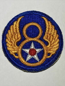 WW2 8th US Army Air Force Corps Original Embroidered SSI Uniform Patch WWII