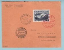 LIECHTENSTEIN C8 ZEPPELIN COVER VADUZ TO BERLIN